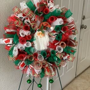 Christmas Santa Wreath